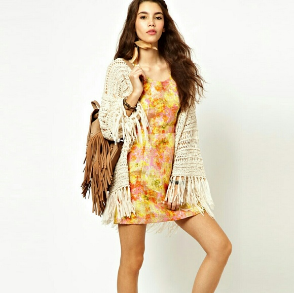 Free People Dresses & Skirts - New Free People Rose Brocade Floral Dress sz 4